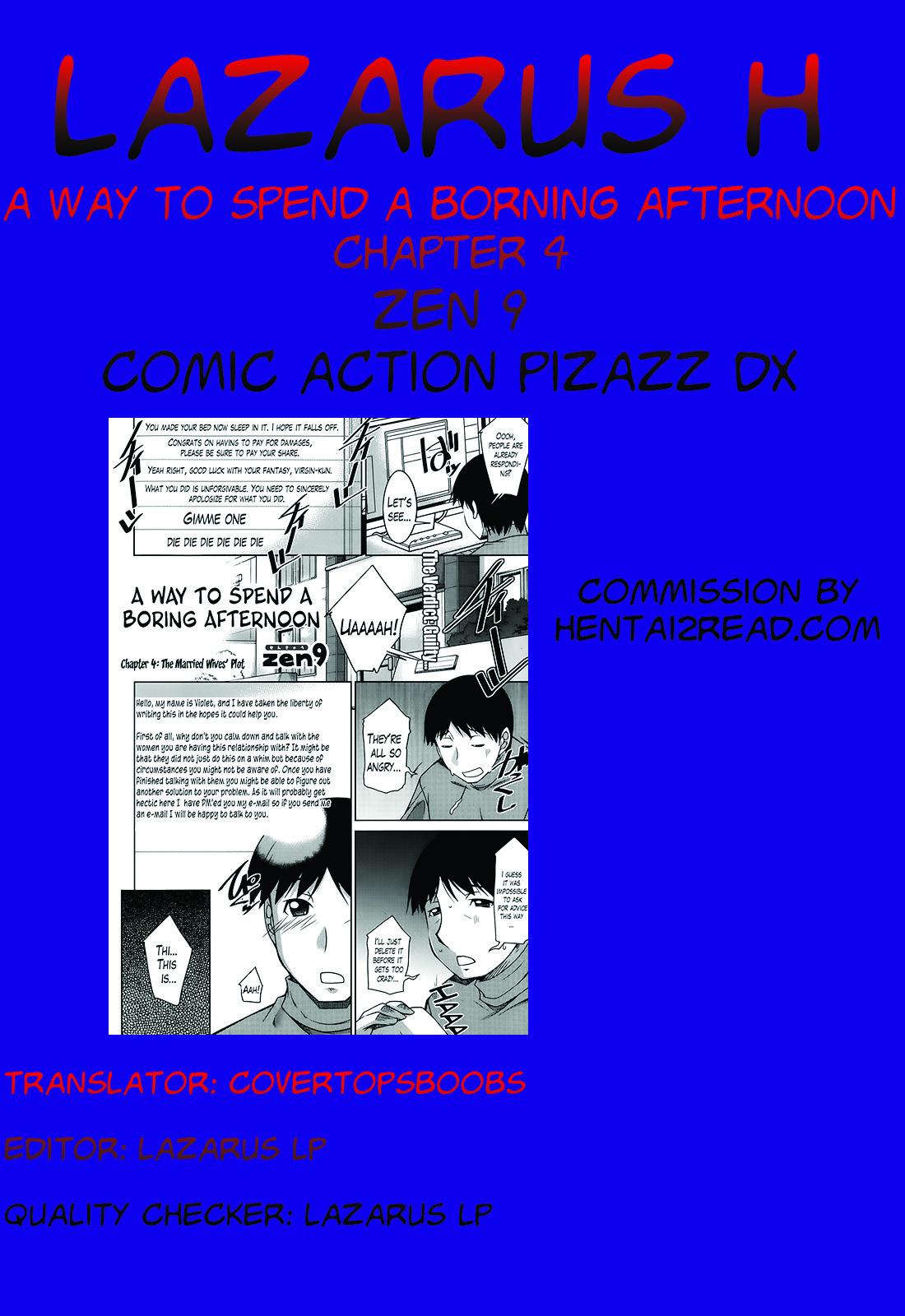 [Zen9] Taikutsu na Gogo no Sugoshikata Ch. 1-4   A Way to Spend a Boring Afternoon Ch. 1-4 (Action Pizazz DX 2013-12) [English](hentai2read.com)[Lazarus H] 76