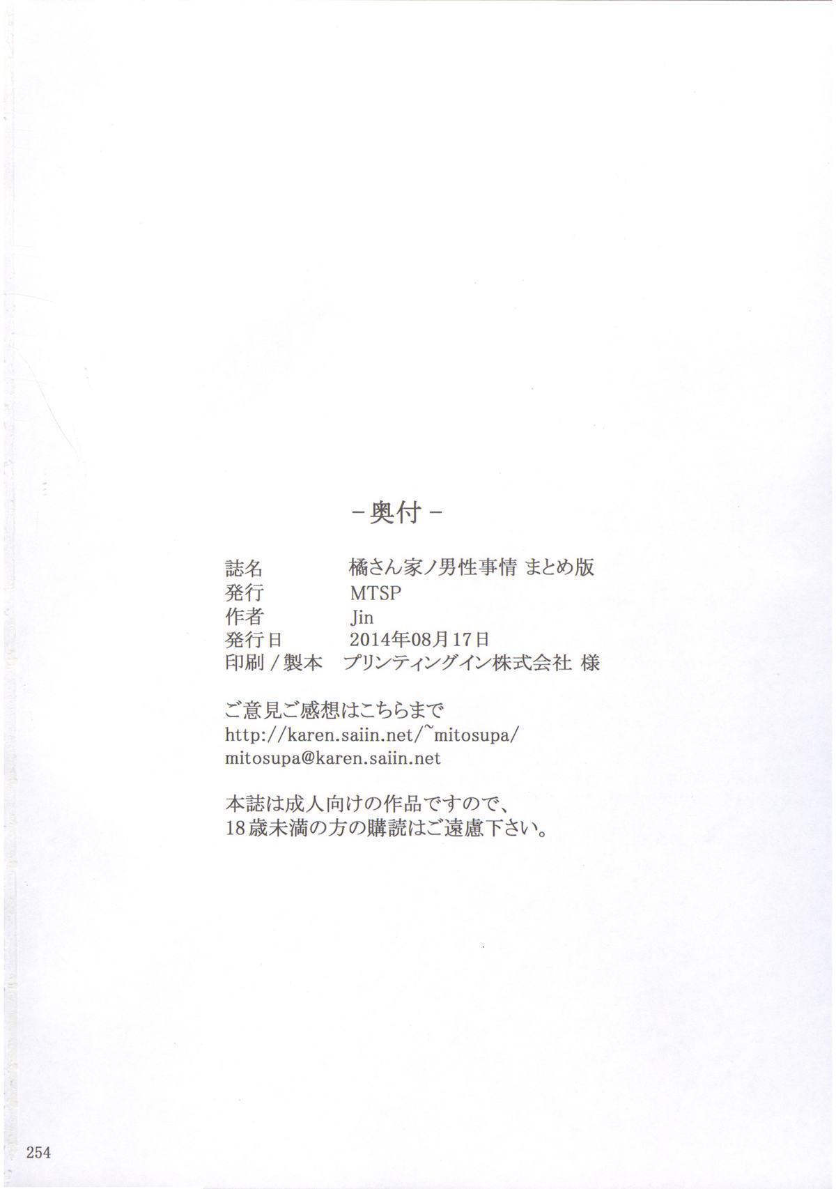 (C86) [MTSP (Jin)] Tachibana-san-chi no Dansei Jijou Matome Ban [Incomplete] 52