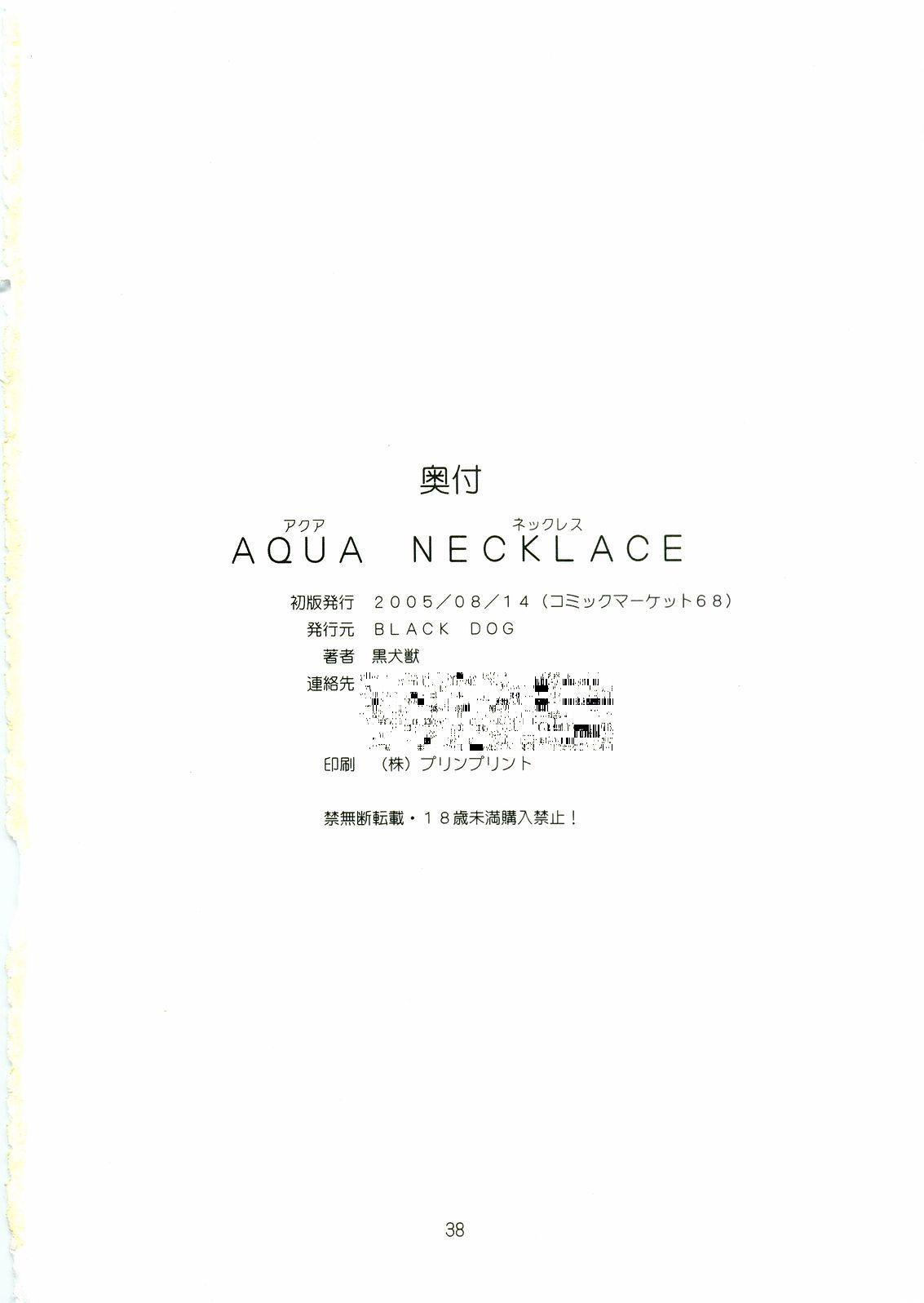 Aqua Necklace 36