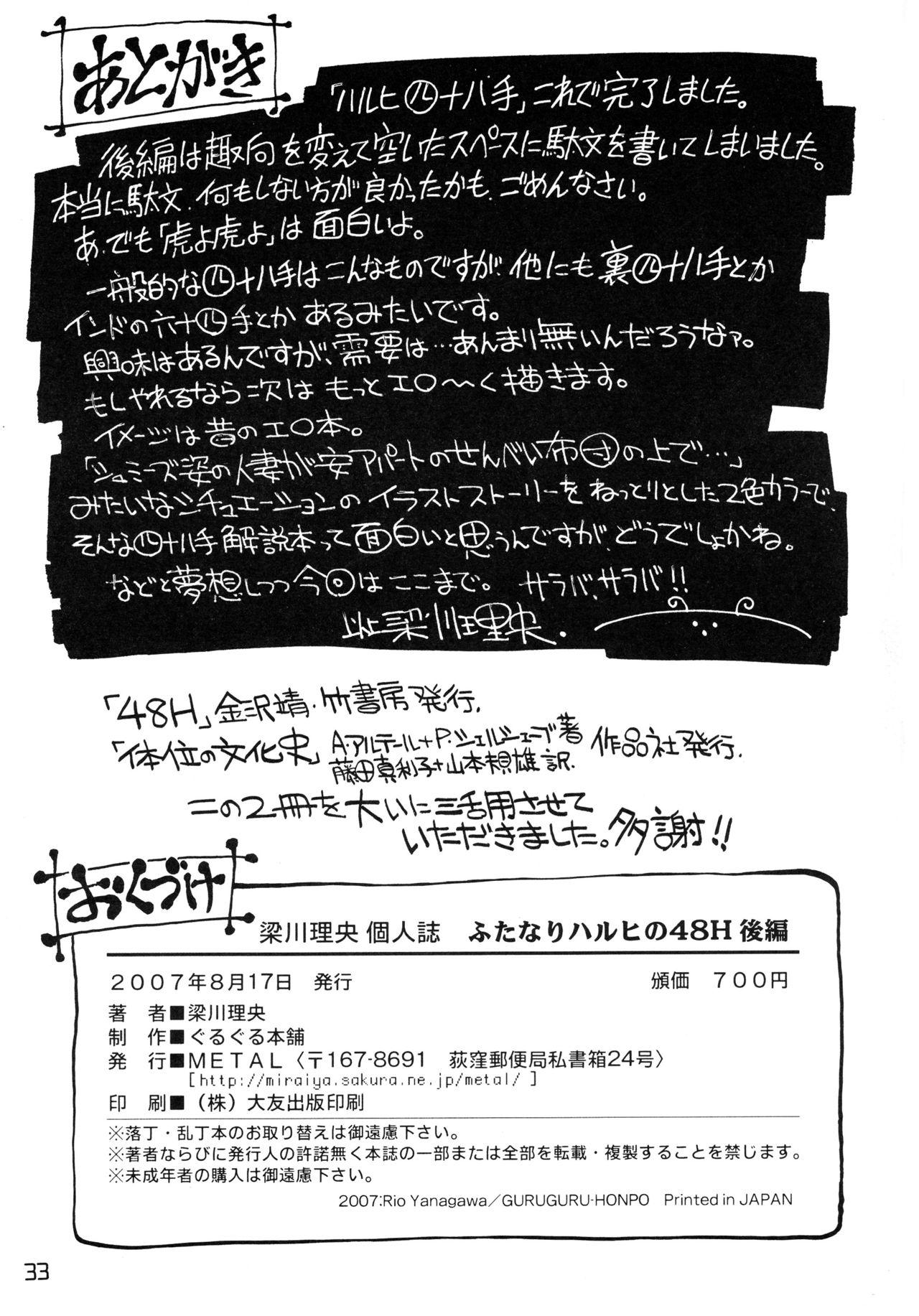 Futanari Haruhi no 48H 32