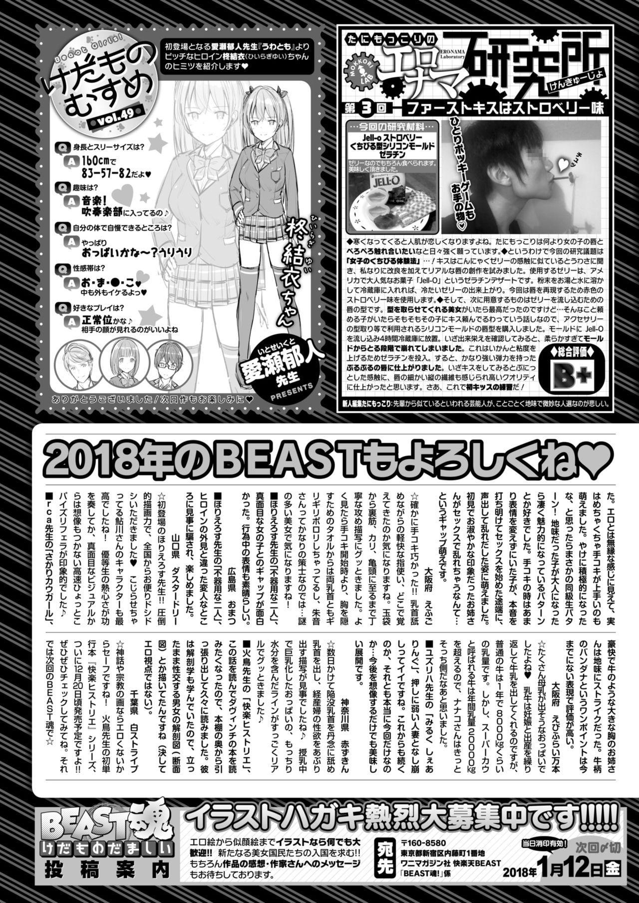 COMIC Kairakuten BEAST 2018-01 295