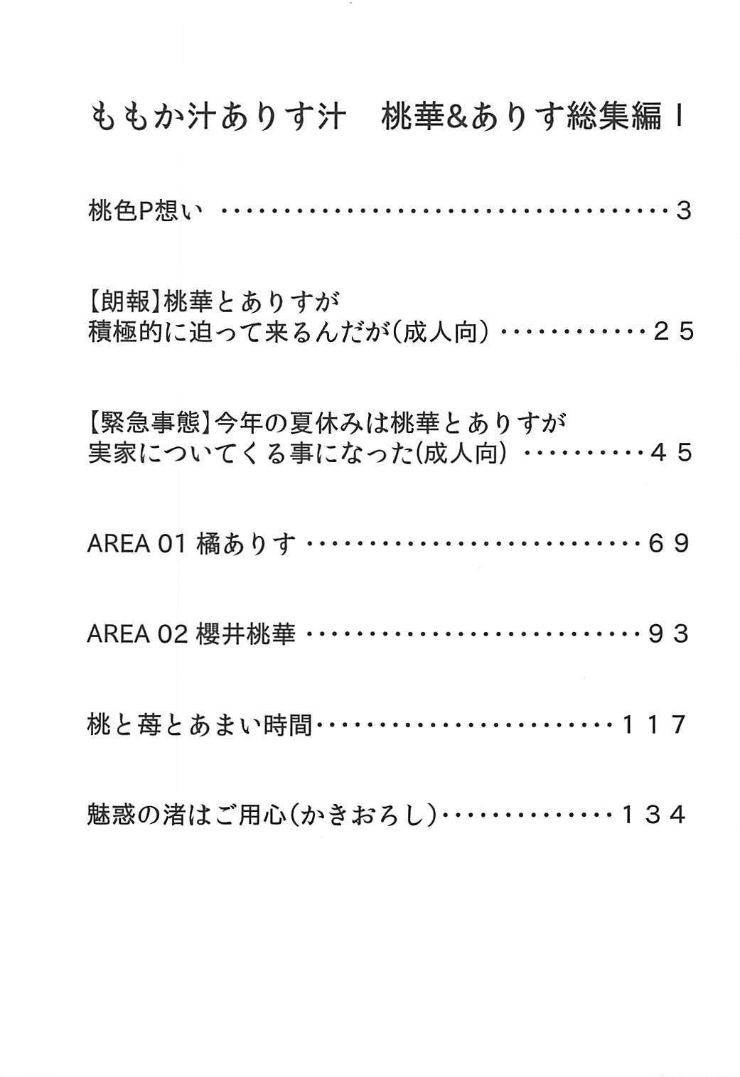 Momokajiru Arisujiru Momoka & Arisu Soushuuhen I 1