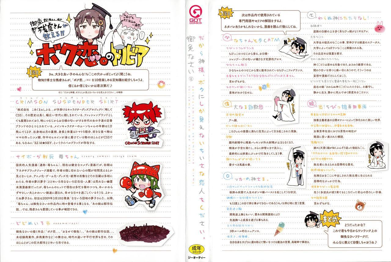Dakara Kami-sama, Boku ni shika Mienai Chiisana Koibito o Kudasai. 3