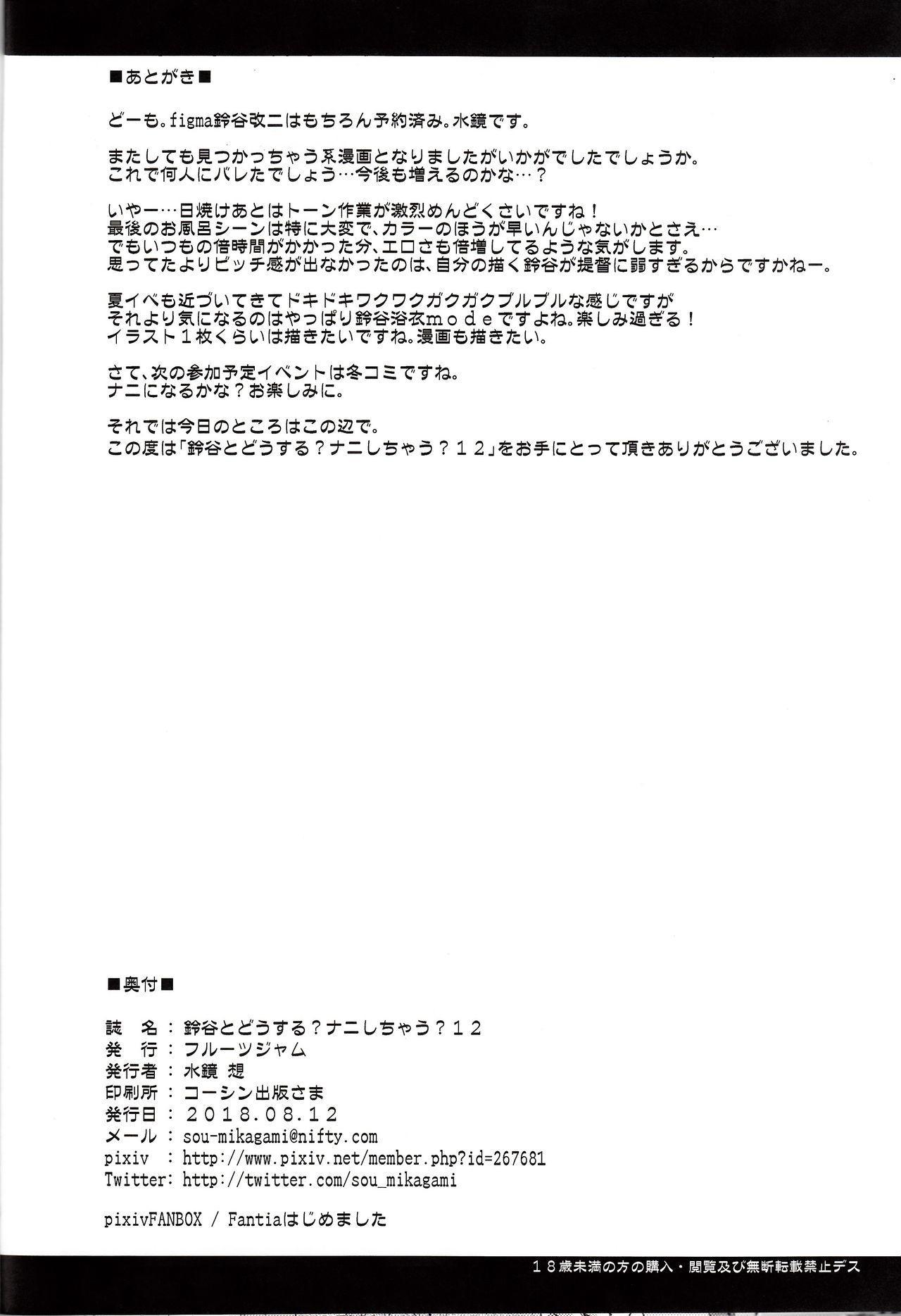 Suzuya to Dousuru? Nanishichau? 12 24