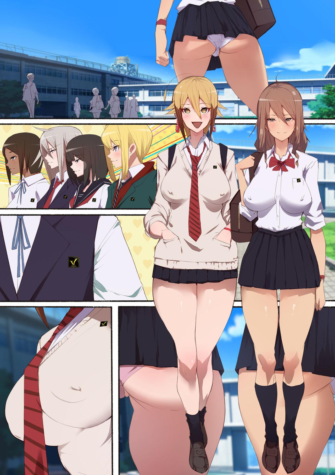 [Aikokusha (Agobitch Nee-san)] Seifuku Bishoujo 2gakki Ee!? Oshiri ni Koishiteru? Cheer Girl-chan to Dosukebe na Onnanoko-tachi dattee? 46