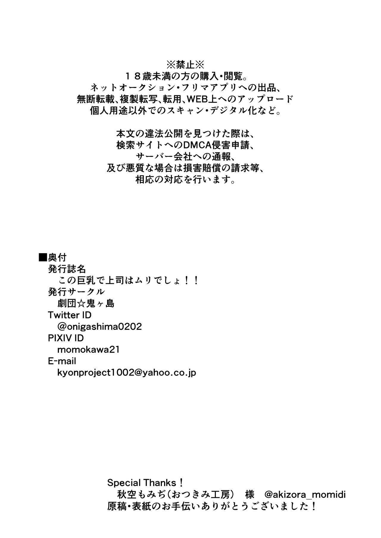 Kono Kyonyuu de Joushi wa Muri desho!! 28