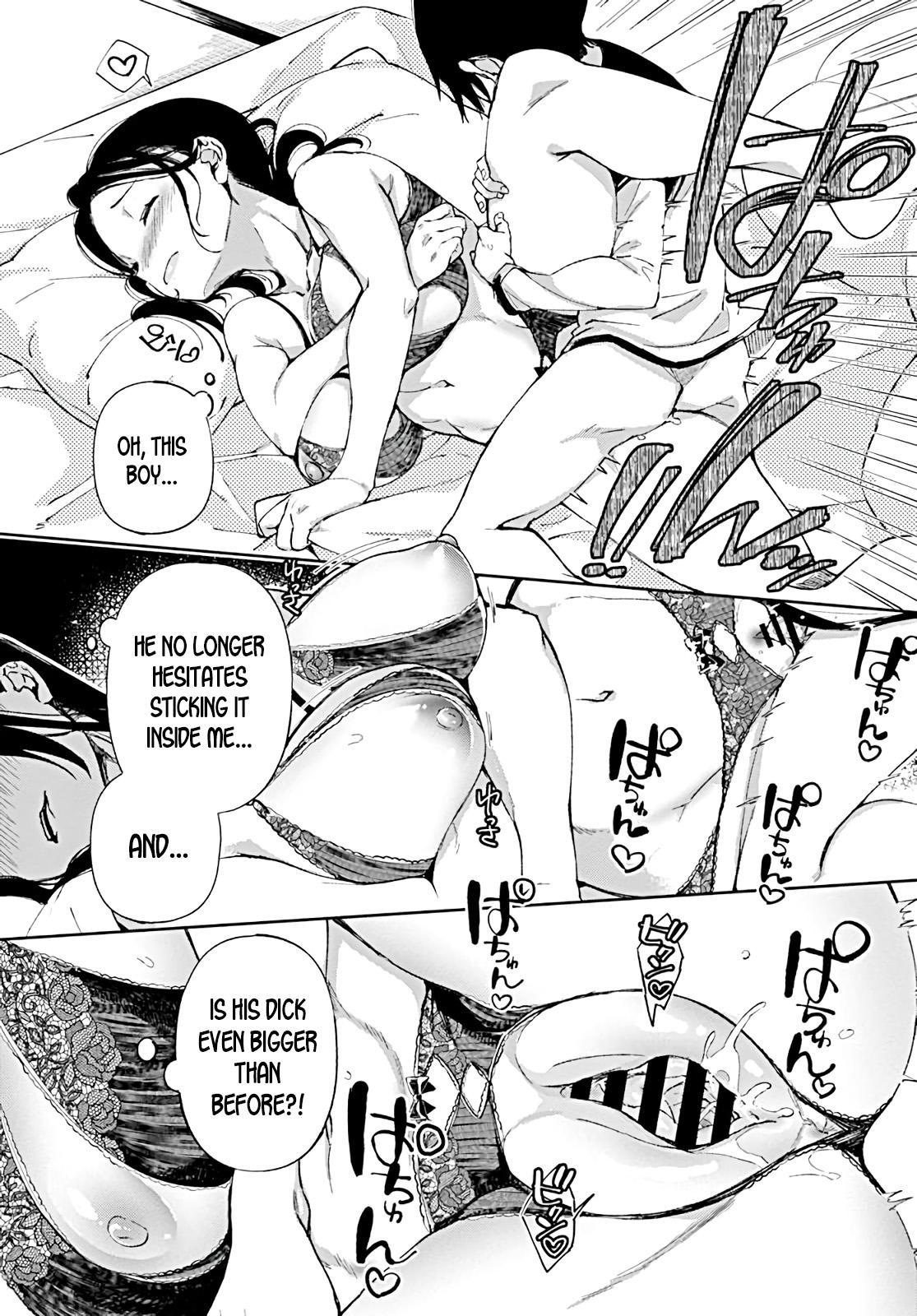Jitsubo no Kyonyuu o Musaboru Shota wa Aijou to Bonyuu o Sosogareru | Pouring love and breast milk into the shota who craves his mother's big breasts 15