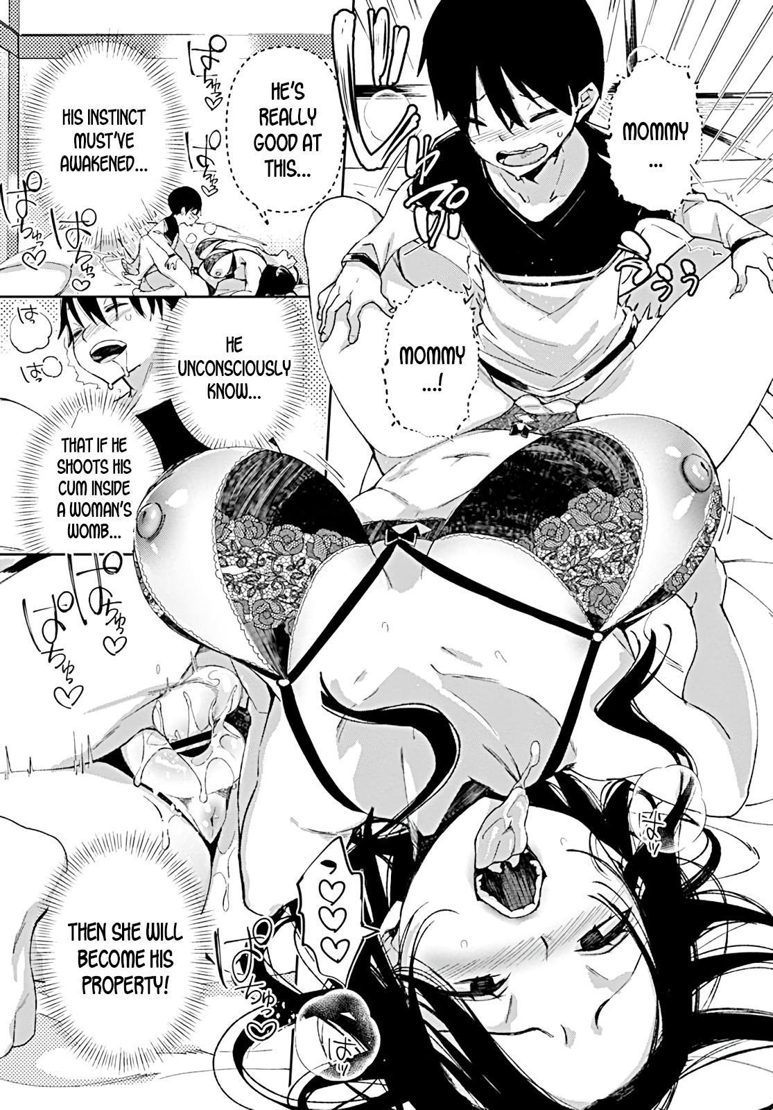 Jitsubo no Kyonyuu o Musaboru Shota wa Aijou to Bonyuu o Sosogareru | Pouring love and breast milk into the shota who craves his mother's big breasts 18