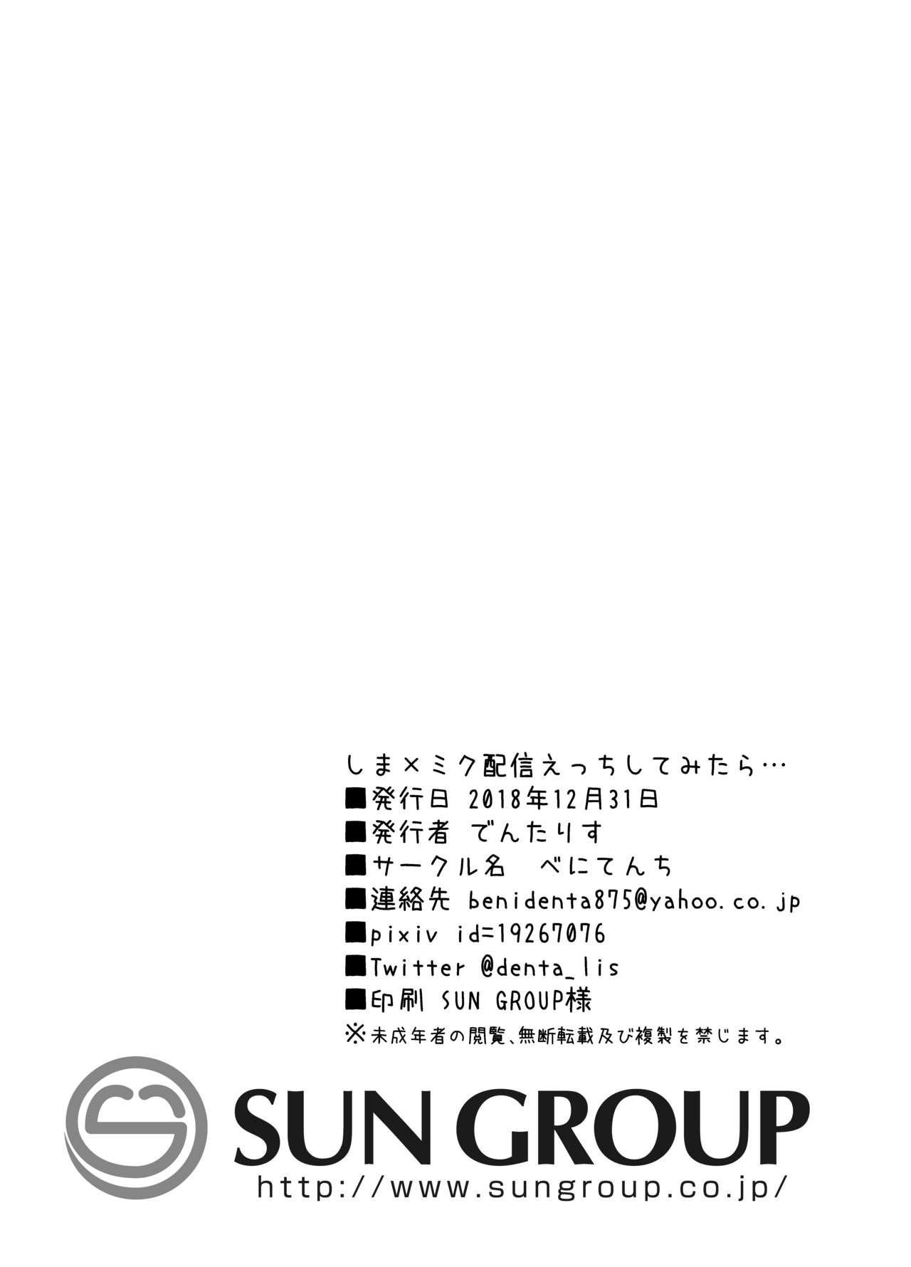 Shima x Miku Haishin Ecchi Shitemitara... 20