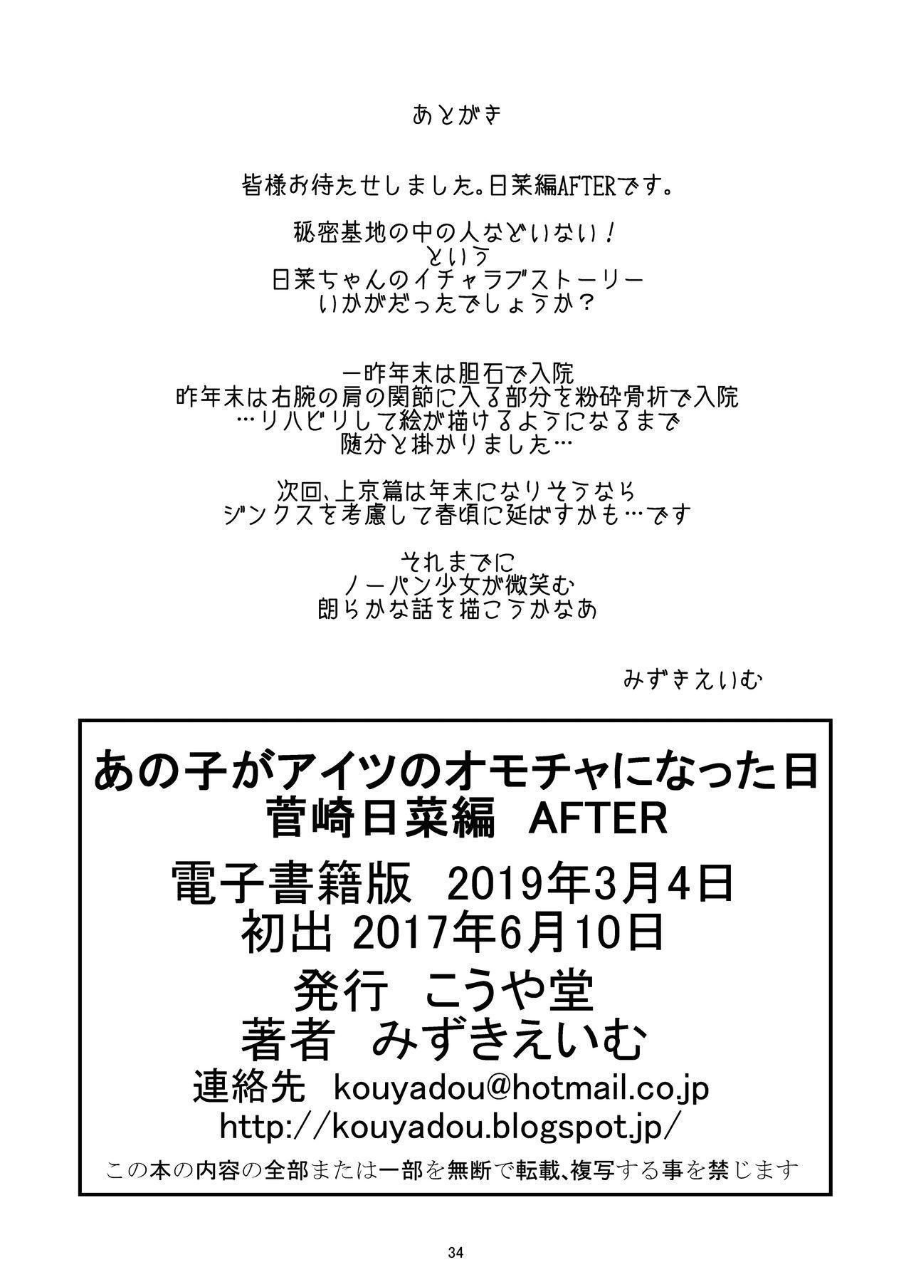 Anoko ga Aitsu no Omocha ni Natta Hi Kanzaki Hina Hen AFTER 33