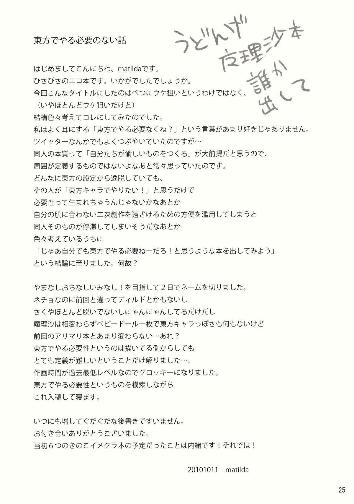 Kore Touhou de Yaru Hitsuyou Naku ne? 24