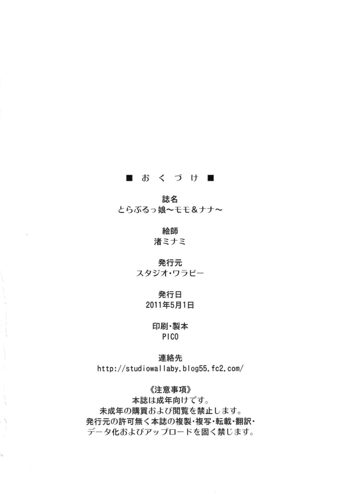 (COMIC1☆5) [Studio Wallaby (Nagisa Minami)] Troublekko ~Momo & Nana~   To LOVE-Ru Girls ~Momo & Nana~ (To LOVE-Ru) [English] =TV + Afro= 31